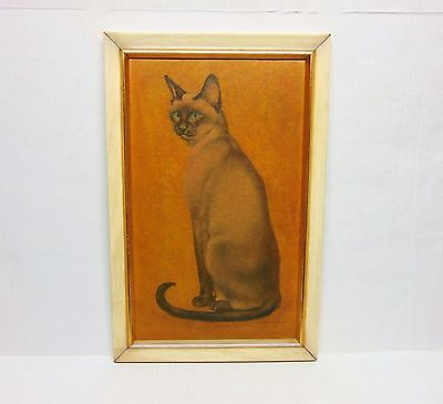 Vintage Siamese Cat Framed Picture Wall Decor Academy Arts