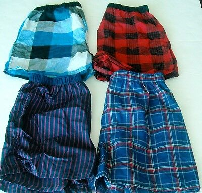 Boy's Hanes & Fruit Of The Loom Kids Size XL Boxer Shorts - 4 Pair