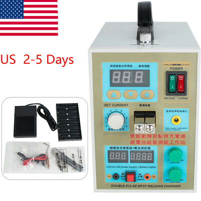 LED Dual Pulse Spot Welder 18650 Battery Charger 800 A 0.1-0.2 mm 36V US Free S