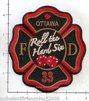 Canada - Ottawa Station 33 Ontario Fire Dept Patch - Roll the Hard Six