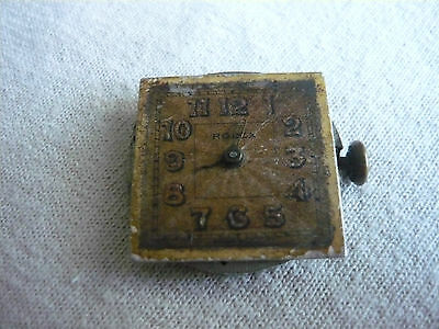 Vintage Rolex Hand Wind Wristwatch Movement & Dial