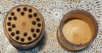 Very Old Antique Wooden Treenware Sewing Needle Holder in Great Condition