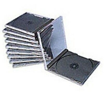 10 NEW STANDARD SINGLE Clear  Or BLACK TRAY JEWEL CASES CD DVD HOLDS 1 DISC