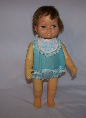 """1960 Mattel Tiny Chatty Baby In Original Outfit 15"""""""