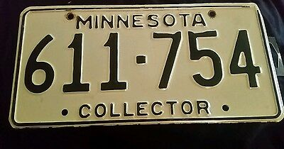 1970s Minnesota Collector License Plate