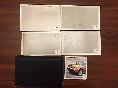2004 Infiniti FX45 FX35 Owners Manual Set And Leather Infiniti Case