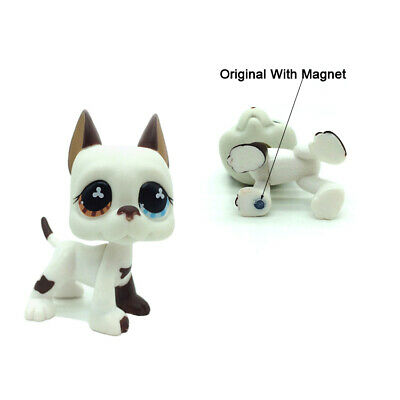 Littlest Pet Shop LPS Great Dane Dog Puppy #577 Blue Brown Eyes Girl Toys Gift