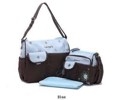 3Pcs Set Carter's Baby Diaper Bag With Changing Pad & Small Tote Bag