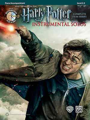 Harry Potter-Instrumental Solos-Piano Accompaniment-Music Book/Cd Film New Sale!