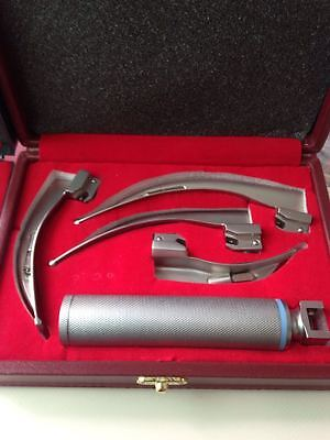 Laryngoscope Macintosh Intubation Set Of 4 Blades And 1 Handle Emt Anesthesia