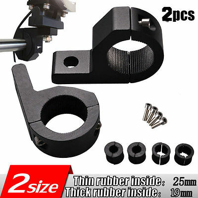 2pcs 1'' LED MOUNT BRACKET  FOR ROOF ROLL CAGE LIGHT BAR CLAMPS 19mm-25mm TUBE