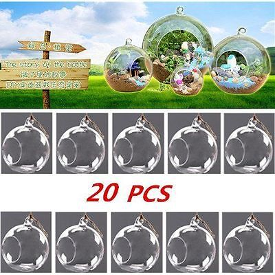 LOT 20PCS Hanging Glass Flowers Plant Vase Stand Holder Terrarium Container New