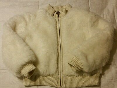 Children's Place Girl's Winter White Faux Fur Jacket Coat SIZE Small 5/6