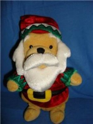 disney santa clause pooh bean bag stuffed toy retired