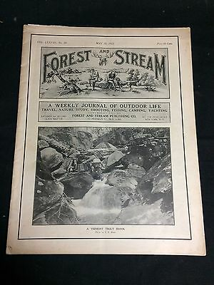 """""""Forest and Stream"""" May 18, 1912 Vintage Magazine Hunting & Fishing"""