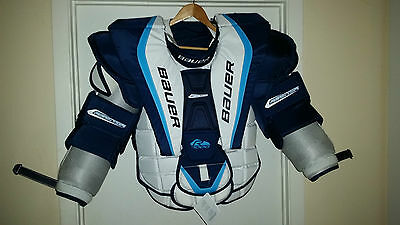 NEW Goalie Bauer 7000 Reactor Chest & Arm protector Senior ( Sr ) Large  ( L )