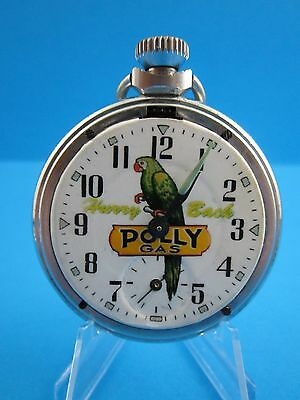 """VINTAGE...1960's """"POLLY GAS ADVERTISING POCKET WATCH""""  Made in U.K. (RARE WATCH)"""