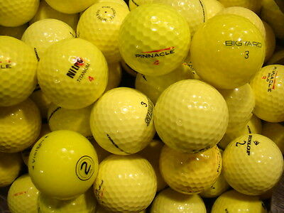 50 Yellow Coloured Golf Balls In Mint/a Grade Condition