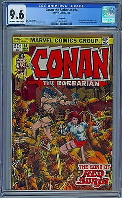 CONAN THE BARBARIAN #24 - CGC 9.6 OW-WP NM+ 1st Full RED SONJA Northland pedigre