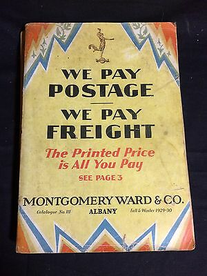 Fall & Winter 1929-1930 Montgomery Ward Catalog-Sports, Clothes, Furniture ++
