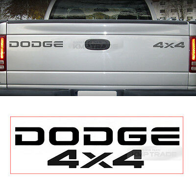 DODGE 4x4 Offroad Logo Tailgate Graphics Decals Sticker 2Pcs For DODGE 01-08 Ram