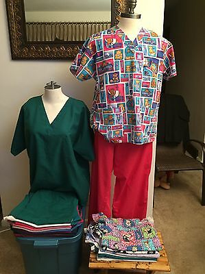 Ladies Scrubs – Lot Of Scrubs – Various Sizes, Patterns and Colors - See Listing