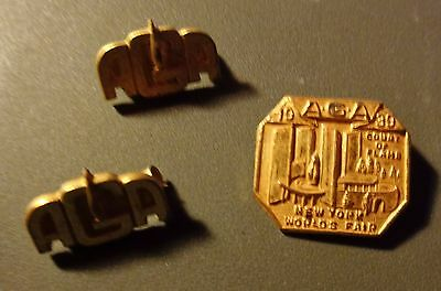 1939 Aga Court Of Flame New York Worlds Fair 3 Pin Set American Gas Association