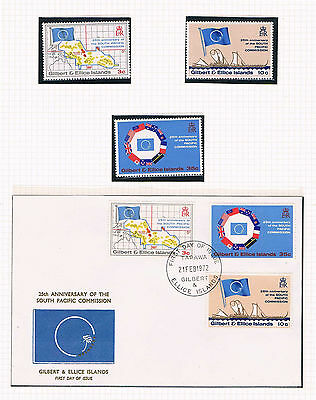Gilbert & Ellice Is - 1972 South Pacific Commission SC/SG 196-8 MNH and FDC