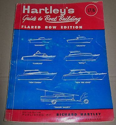 VINTAGE HARTLEY'S GUIDE TO BOAT BUILDING Flared Bow Edition