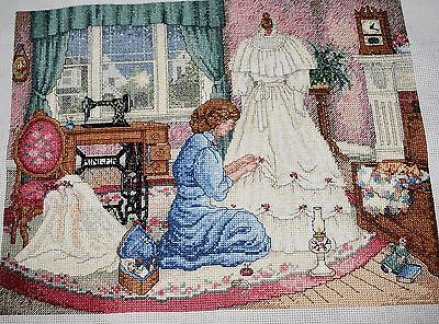 Completed Finished Cross Stitch,paula Vaughan, Mother's Loving Hands