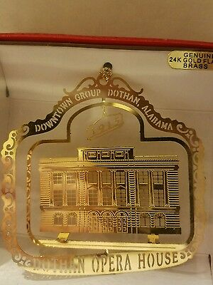 Opera House Dothan Alabama  Brass Christmas Ornament
