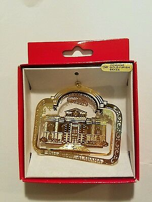 County Court House Talladega Alabama   Brass Christmas Ornament