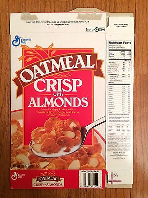 "1995 Vintage (General Mills) ""OATMEAL CRISP WITH ALMONDS"" Cereal Box, RARE!"