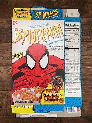 "1995 Vintage (Ralston) ""SPIDER-MAN"" Cereal Box, With Crunchy Spider-Webs! RARE!"
