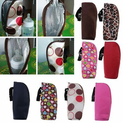 Baby Milk Warmer Cover Feeding Bottle Hanging Bag Holder Insulate Thermal Travel