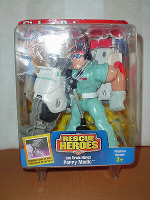 Fisher Price Rescue Heroes Perry Medic 1999  MIB
