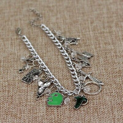 Special Lord Of The Rings Themed Silvertone Metal Charm Bracelet New