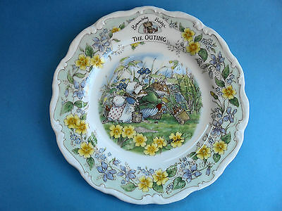 Royal Doulton Brambly Hedge Plate The Outing Like New