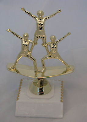 Cheerleading Triple Figurine Trophy 175mm Engraved FREE