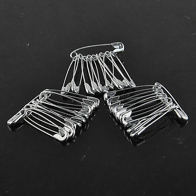 1000PCs/lot Safety Pins Steel Plated Clothes Craft Sewing Fastening Baby Clip