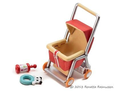 Megahouse Mega Mini Miniature Baby Set #5 Stroller with Toy and Rattle Re-ment