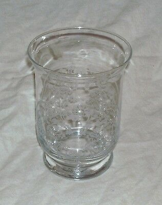 Very Fine Quality Clear Glass Vase With Etched Designs In Excellent Condition