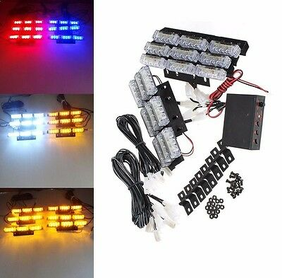 Car LED Flashing Safety Light Bar Grille Recovery Strobe Beacon Lamp