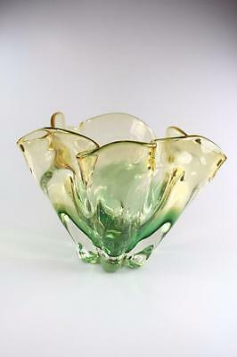 Vintage Italian Hand Made Murano Art Glass Large Vase
