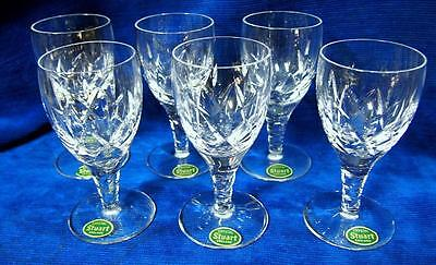 A Set of 6 Stuart Crystal Made in England Carlingford Sherry ? Glasses Perfect