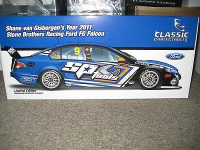 1/18 shane van gisbergen 2011 stone brothers racing ford fg falcon signed