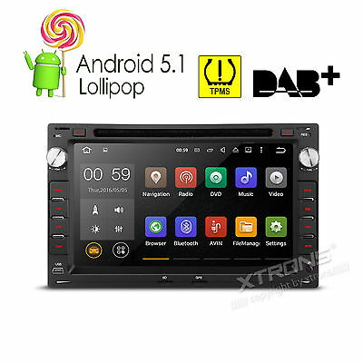 "7"" Android 5.1 Autoradio GPS Navi DAB+ DVD Player für VW BORA SHARAN JETTA LUPO"