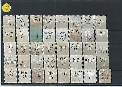 Timbres Allemagne : 40 Perforations (Perfins) Differentes