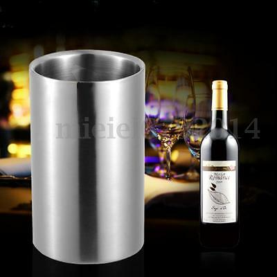Stainless Steel Champagne Wine Bottle Cooler Ice Bucket Drink Chiller Party Gift