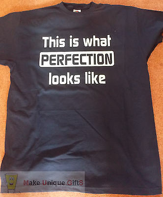 Novelty Slogan Childrens Tshirt - This Is What Perfection Looks Like